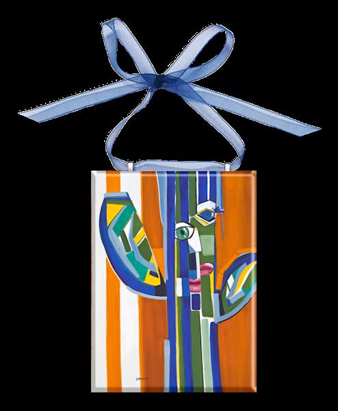 Saguaro Picasso Glass Ornament