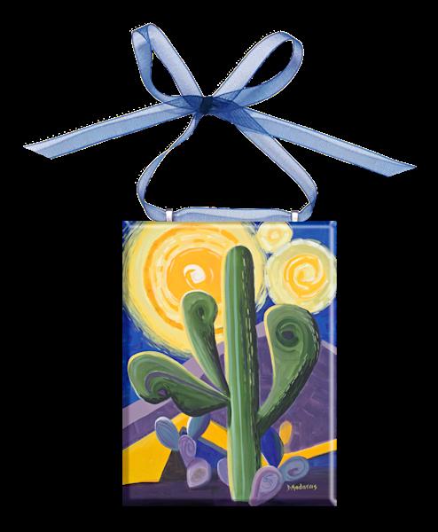 Sagauro Van Gogh Glass Ornament