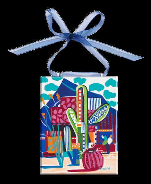 Saguaro Matisse Glass Ornament