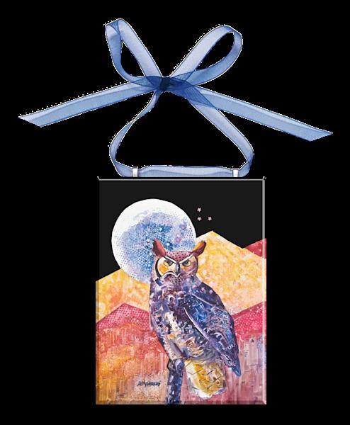 Night Owl Glass Ornament