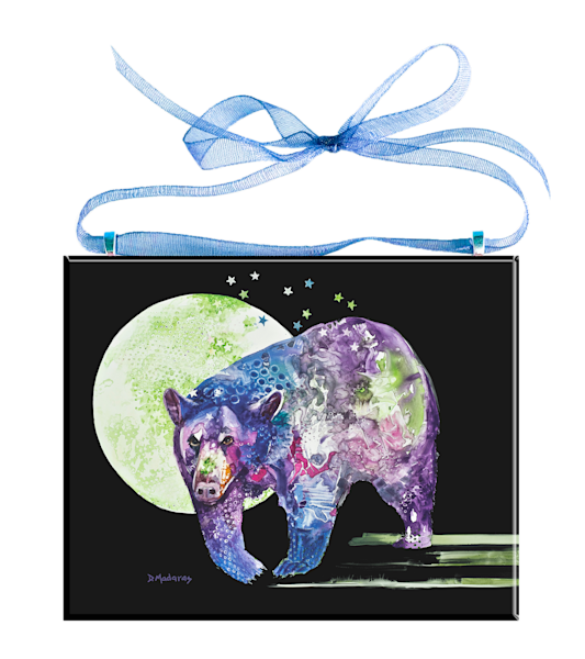 Bear Down Glass Ornament