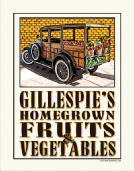 Customizable Fruits & Veggies Poster