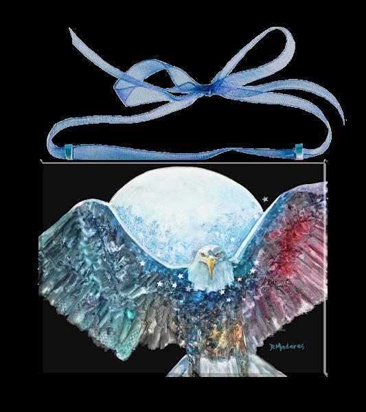 Amazing Grace Glass Ornament Eagle