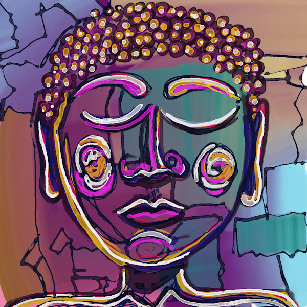 Abstract 14 Buddha Art   South 42 Degrees
