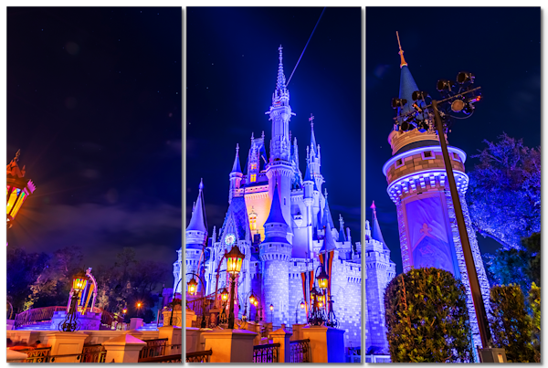 Nighttime Cinderella's Castle - Disney Castle Wall Art