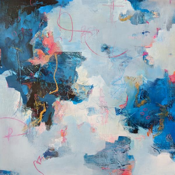 Joyfully Blue   #18020 Sold Art | Susanne Clark