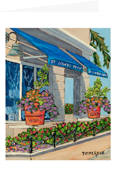 """St Tropez Home"" fine art greeting card by Barb Timmerman."