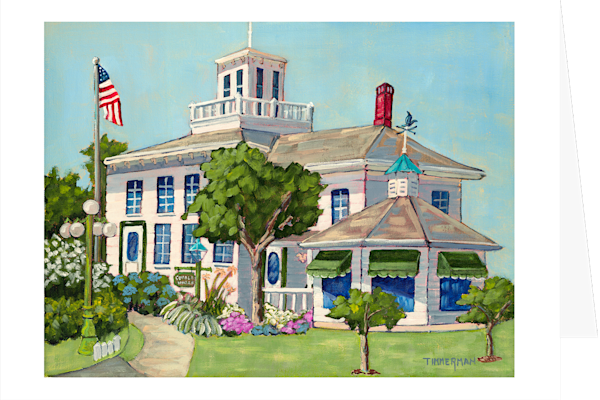 """Cupola House"" fine art greeting card by Barb Timmerman."