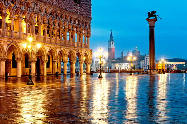 Venice Sunrise and Reflections St. Marks Square: Shop Prints | Louis Cantillo Art