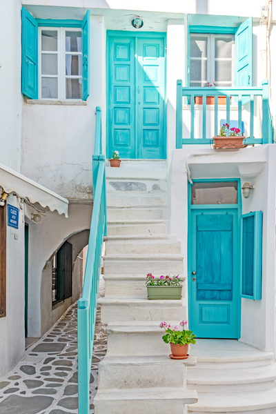 Turquoise Courtyard  Photography Art | Images by Louis Cantillo
