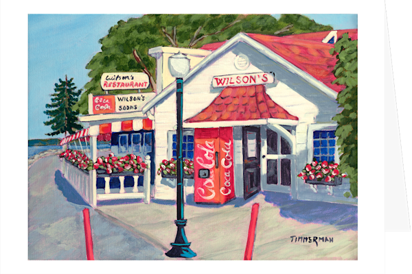 """Wilson's 2"" fine art greeting card by Barb Timmerman."