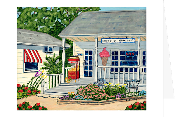 """Dippy's Ice Cream"" fine art card by Barb Timmerman."