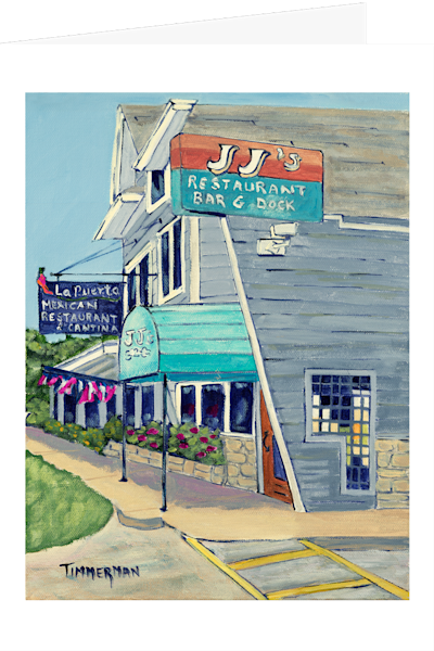 """JJ's"" fine art greeting card by Barb Timmerman."