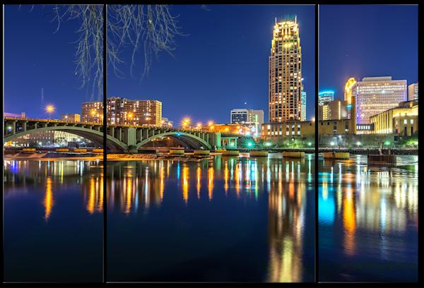 Carlyle Reflection - Minneapolis Skyline Canvas | William Drew Photography