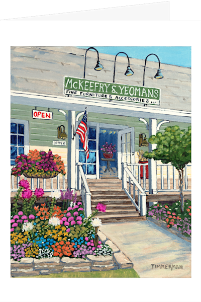 """McKeefry & Yeomans"" fine art greeting card by Barb Timmerman."