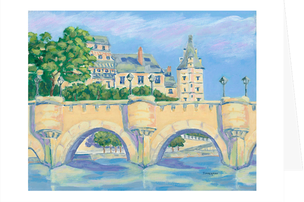 """Bridges of Paris"" fine art greeting card by Barb Timmerman."