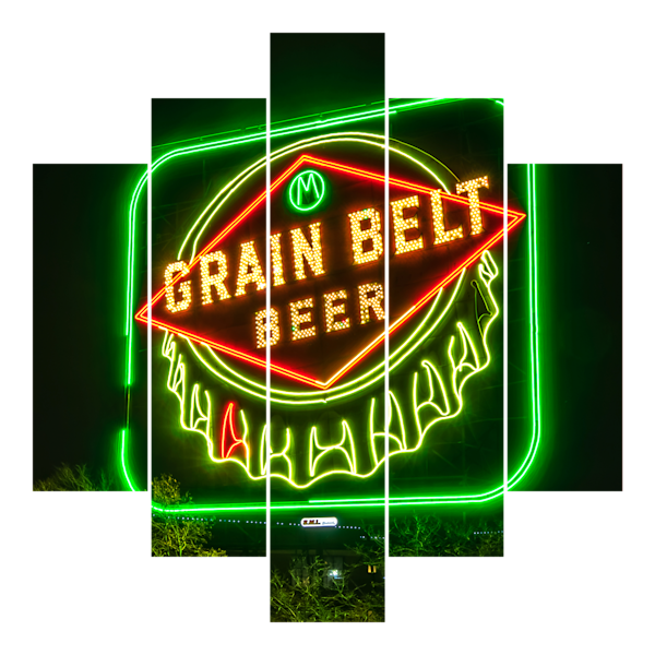 Grain Belt Sign - Minneapolis Panel Art | William Drew Photography