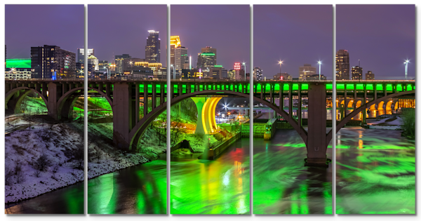 Minneapolis Saint Patrick's Day - 5 Panel Minneapolis Art