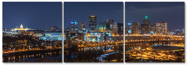 Saint Paul on Saint Patrick's Day - Skyline Triptych Art