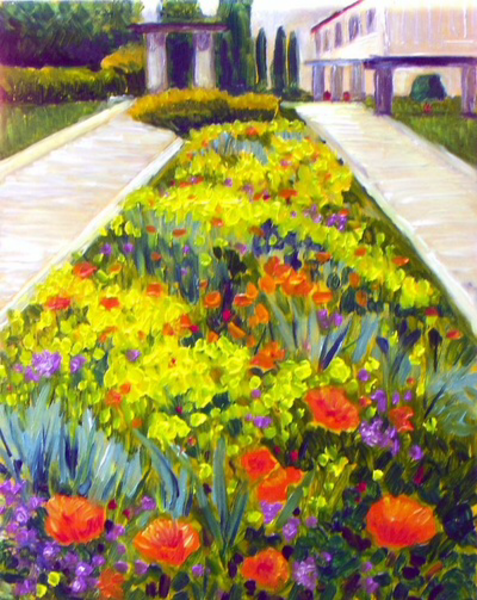 Gardens of Nice Fine Art Print by American Artist Hilary J. England