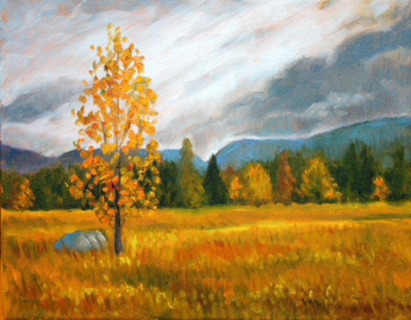 October on the range fine art print by Hilary J. England