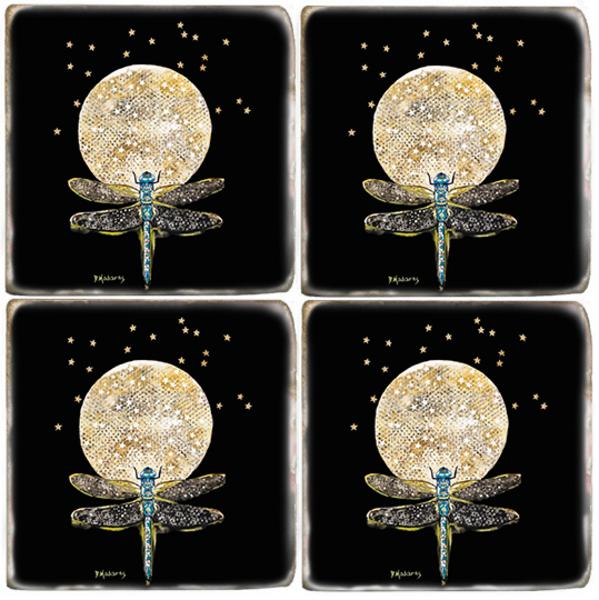 Fly Away Dragonfly Coaster Set