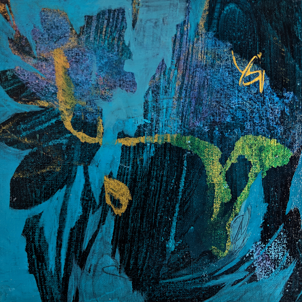 Moody In The Garden   #19 M5 Sold Art | Susanne Clark