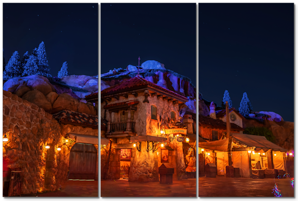 Mine Train Nights - Disney Triptych Art | William Drew