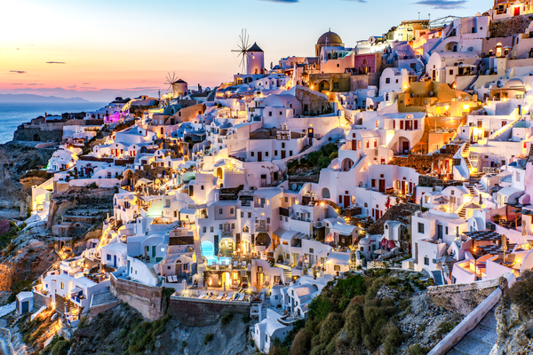 Oia Santorini Sunset Photograph: Shop Prints | Louis Cantillo Art