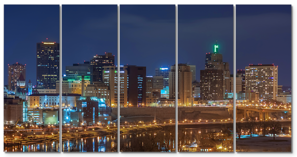 Saint Patricks Day in Saint Paul - Urban Cityscape Panel Art