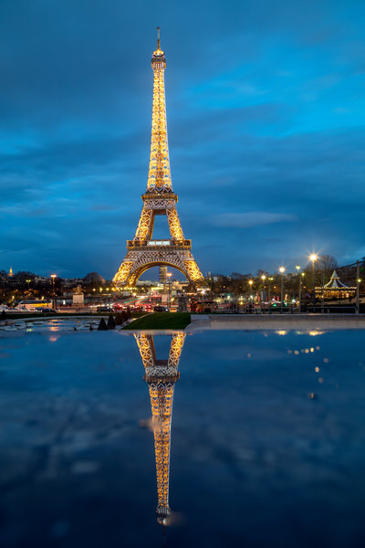 Eiffel Tower and Reflection