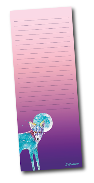 Fly Me to the Moon Lined Notepad with magnet back