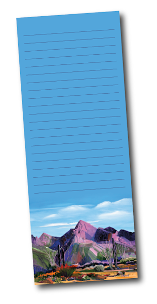 Pink Ocotillo at Pusch Ridge Notepad |  Madaras Gallery