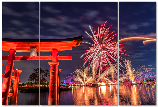 Torii Gates Illuminations - Disney Panel Art | William Drew Photography