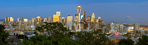 Space Needle, Public Park, Seattle Overlook, Sunset View