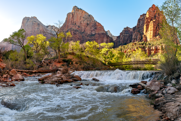 Virgin River, emerald pools, waterfalls, narrows, canyons, trails, climbing