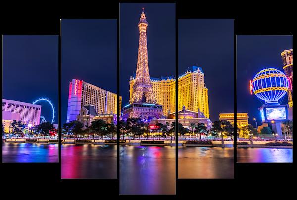 Paris Hotel Las Vegas - 5 Piece Wall Art | William Drew Photography