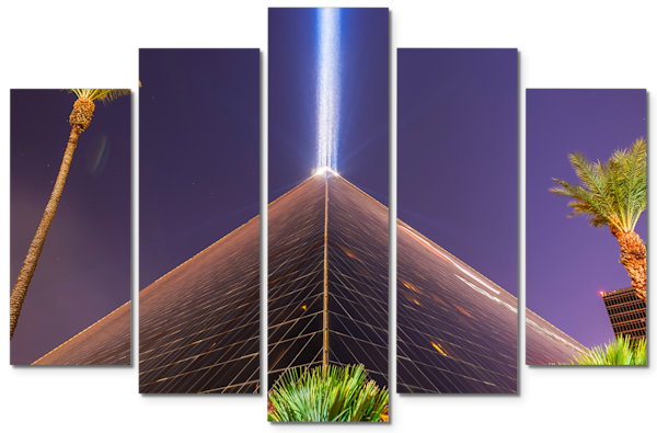 Luxor Las Vegas - Las Vegas 5 Piece Canvas Art | William Drew