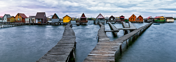 Boardwalks and Piers, Lake Homes, Stilt Village