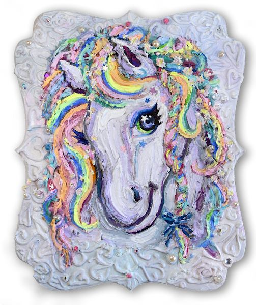 Magical Horse Portrait by Annelie McKenzie