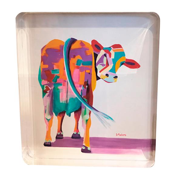 Beatrice Cow Store Acrylic Block