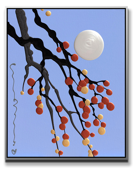 "Simon Bull Available Original Painting - ""Pearl Moon"""
