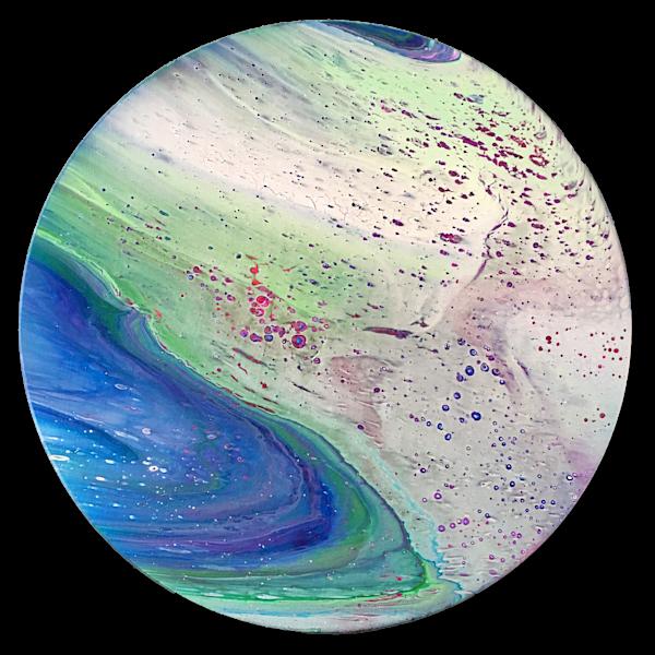 Cosmic Bubbles fluid circular painting