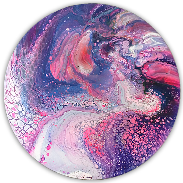 Dream Division circular fluid painting