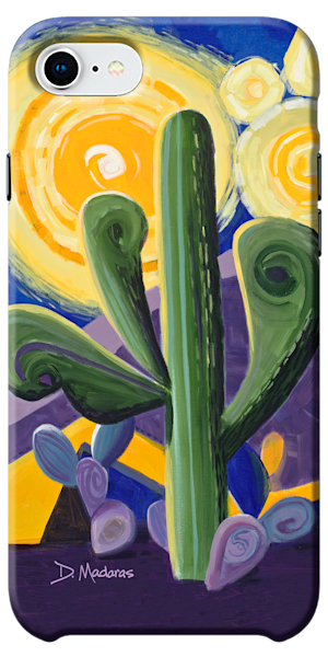Saguaro Van Gogh Phone Case