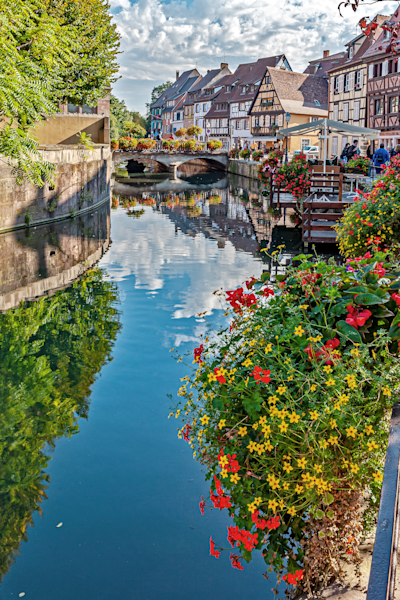 Cobblestone streets, Little Venice, Canals, Alsace Wine