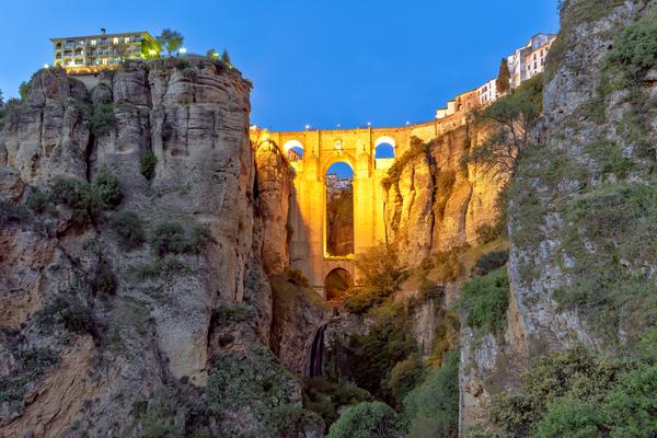 Andalucía, El Tajo gorge, Guadalevín River