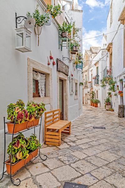 Round Place, Martina Franca, historical center, Apulia, Bari, Sothern Italy