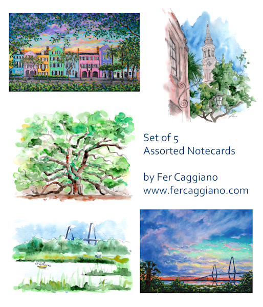 Charleston Notecards #1 (set of 5)