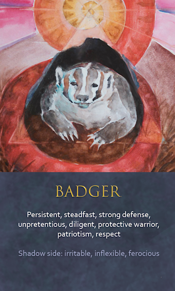 Badger Spirit Animal Oracle Print